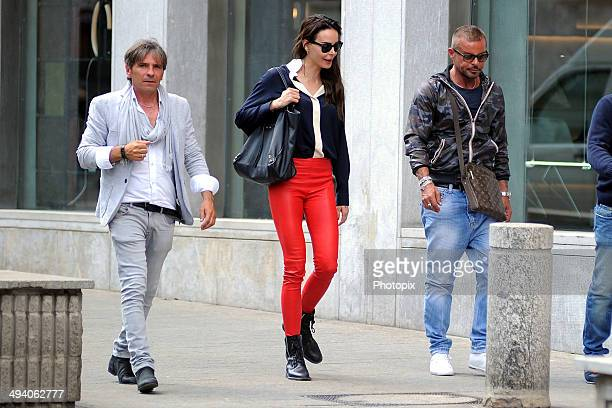 Nina Moric and Dan Harrow are seen on May 27 2014 in Milan Italy