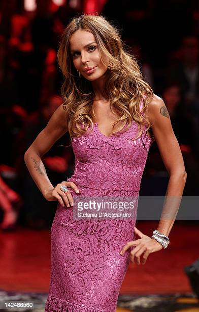 Nina Moric attends 'L'Isola dei Famosi' Final 2012 on April 5 2012 in Milan Italy