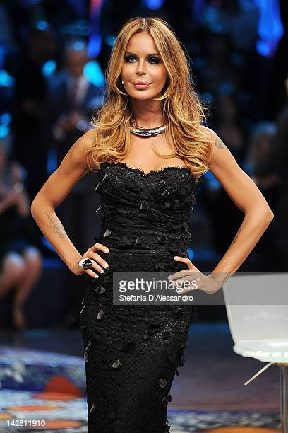 Nina Moric attends 'L'Isola Dei Famosi' on April 12 2012 in Milan Italy