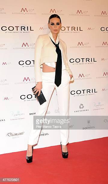 Nina Moric attends the Alessandro Martorana birthday party at Four Seasons Hotel on March 6 2014 in Milan Italy