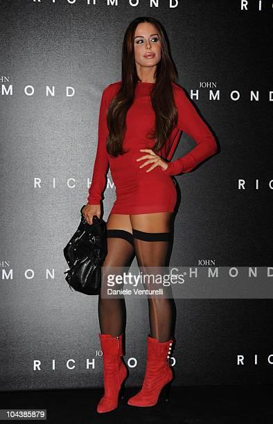Nina Moric attends the John Richmond Milan Fashion Week Womenswear S/S 2011 show on September 22 2010 in Milan Italy