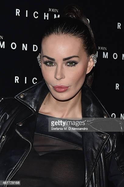 Nina Moric attends the John Richmond Show during the Milan Menswear Fashion Week Fall Winter 2015/2016 on January 18 2015 in Milan Italy