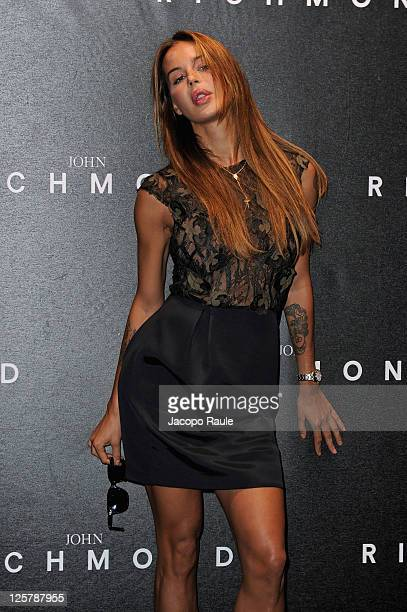 Nina Moric attends the John Richmond Spring/Summer 2012 fashion show as part of Milan Womenswear Fashion Week on September 21 2011 in Milan Italy