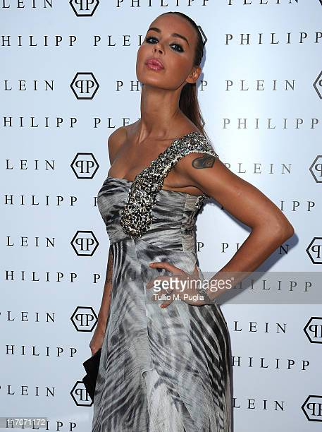 Nina Moric attends the Philipp Plein cocktail party after fashion show as part of Milan Fashion Week Menswear Spring/Summer 2012 on June 20 2011 in...