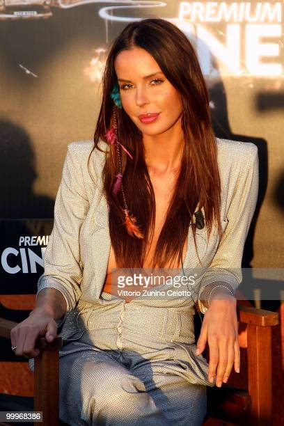 Nina Moric attends the 'Stalking' press meeting hosted by Lancia aboard the 'Signora del Vento' on May 18 2010 in Cannes France