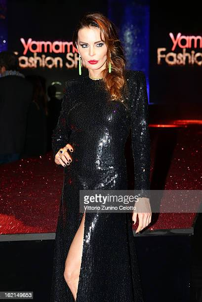 Nina Moric attends the Yamamay show during Milan Fashion Week Fall/Winter 2013/14 at the Alcatraz on February 19 2013 in Milan Italy