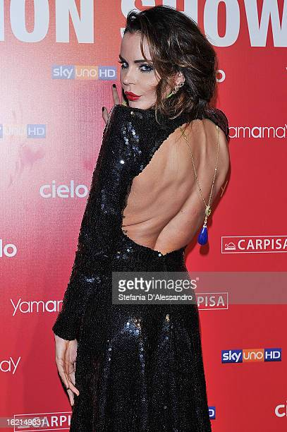 Nina Moric attends Yamamay Fashion Show cocktail party during Milan Fashion Week Fall/Winter 2013/14 at the Alcatraz on February 19 2013 in Milan...