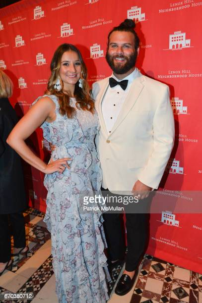 Nina Nash and Jared Hughes attend LHNH honours Geoffrey Bradfield and John Manice at Cipriani 42nd Street on April 18 2017 in New York City