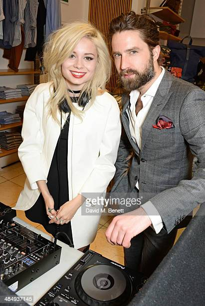 Nina Nesbitt and Jack Guinness attend the French Connection #CantHelpMySelfie launch party at French Connection Regent Street store on April 15 2014...