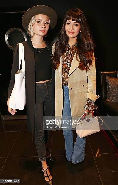 Nina Nesbitt and Zara Martin attend the launch of W London Leicester Square's Britpop Vinyl Collection curated by DJ Lauren Laverne at W London...