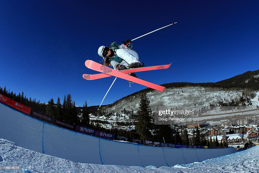 Nina Ragettli of Switzerland competes during qualification for the ladies Ski Halfpipe FIS Freestyle Ski World Cup at the US Grand Prix on January 9, 2013 in Copper Mountain, Colorado.