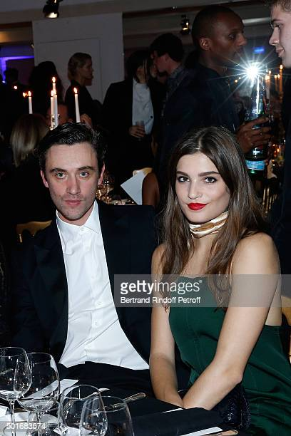 Nina Ricci Stylist Guillaume Henry and Actress Alma Jodorowsky dressed in Nina Ricci attend the Annual Charity Dinner hosted by the AEM Association...