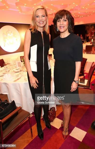 Nina Ruge and Birgit Schrowange during the Lovely Friends Fashion Lunch benefit to 'Children for a better world eV' at Hotel Vier Jahreszeiten on...