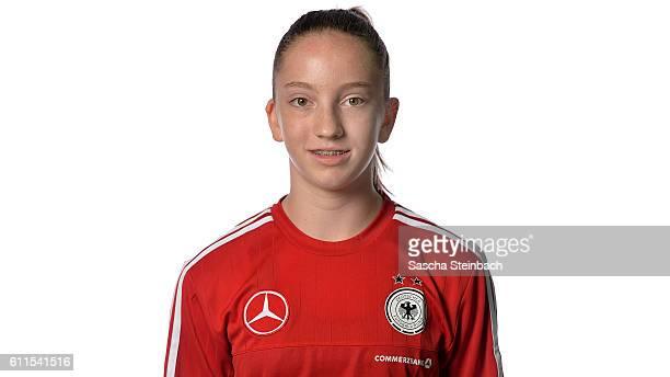 Nina Schumacher poses during the Germany U15 Girl's team presentation on September 27 2016 in Kamen Germany