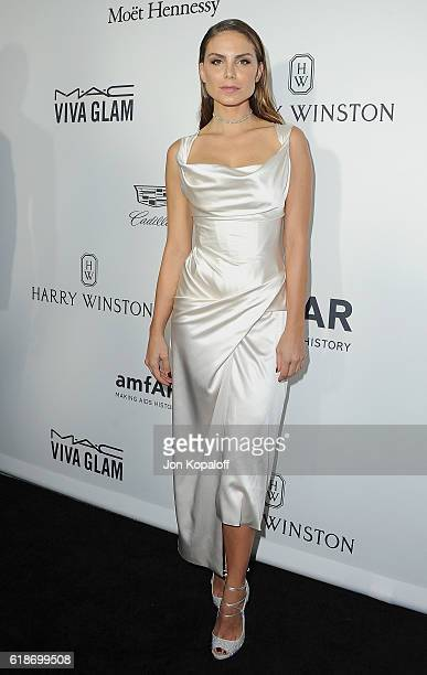 Nina Senicar arrives at amfAR's Inspiration Gala Los Angeles at Milk Studios on October 27 2016 in Hollywood California