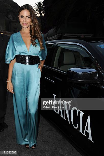 Nina Senicar arrives the Lancia Cafe during the Taormina Filmfest 2013 on June 21 2013 in Taormina Italy