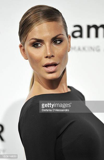 Nina Senicar attends amfAR Milano 2012 during Milan Fashion Week at La Permanente on September 22 2012 in Milan Italy