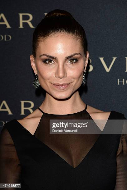 Nina Senicar attends BVLGARI 'Decades Of Glamour' Oscar Party Hosted By Naomi Watts on February 25 2014 in West Hollywood California