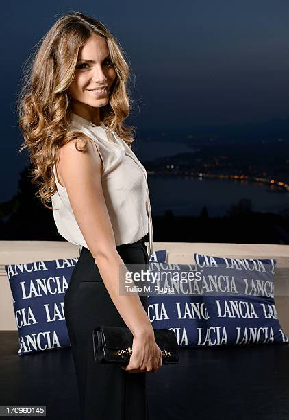 Nina Senicar attends the Lancia Cafe during the Taormina Filmfest 2013 on June 20 2013 in Taormina Italy