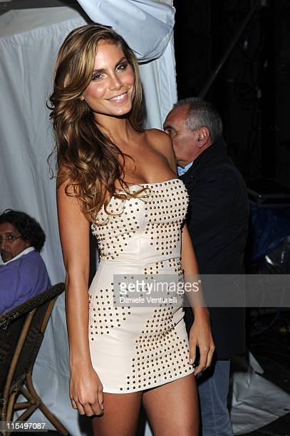 Nina Senicar attends the Wind Music Awards Backstage at the Arena of Verona on May 28 2010 in Verona Italy