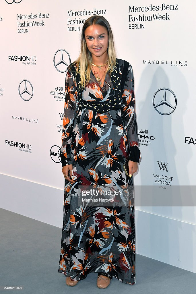 Nina Suess attends the Sportalm show during the Mercedes-Benz Fashion Week Berlin Spring/Summer 2017 at Erika Hess Eisstadion on June 29, 2016 in Berlin, Germany.