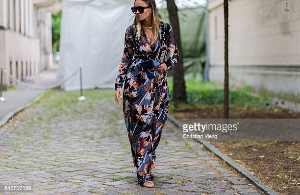 Nina Suess outside Dorothee Schumacher during the MercedesBenz Fashion Week Berlin Spring/Summer 2017 on June 29 2016 in Berlin Germany