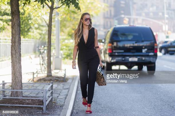 Nina Suess wearing Fendi bag seen in the streets of Manhattan outside Michael Kors during New York Fashion Week on September 13 2017 in New York City