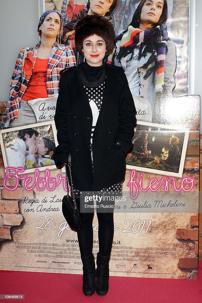 Nina Torresi attends the 'Febbre Da Fieno' premiere at Emassy Cinema on January 27, 2011 in Rome, Italy.