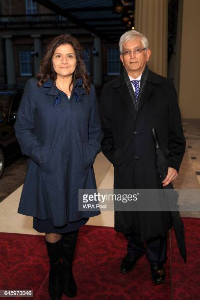 Nina Wadia attends a reception this evening to mark the launch of the UKIndia Year of Culture 2017 on February 27 2017 in London England The...