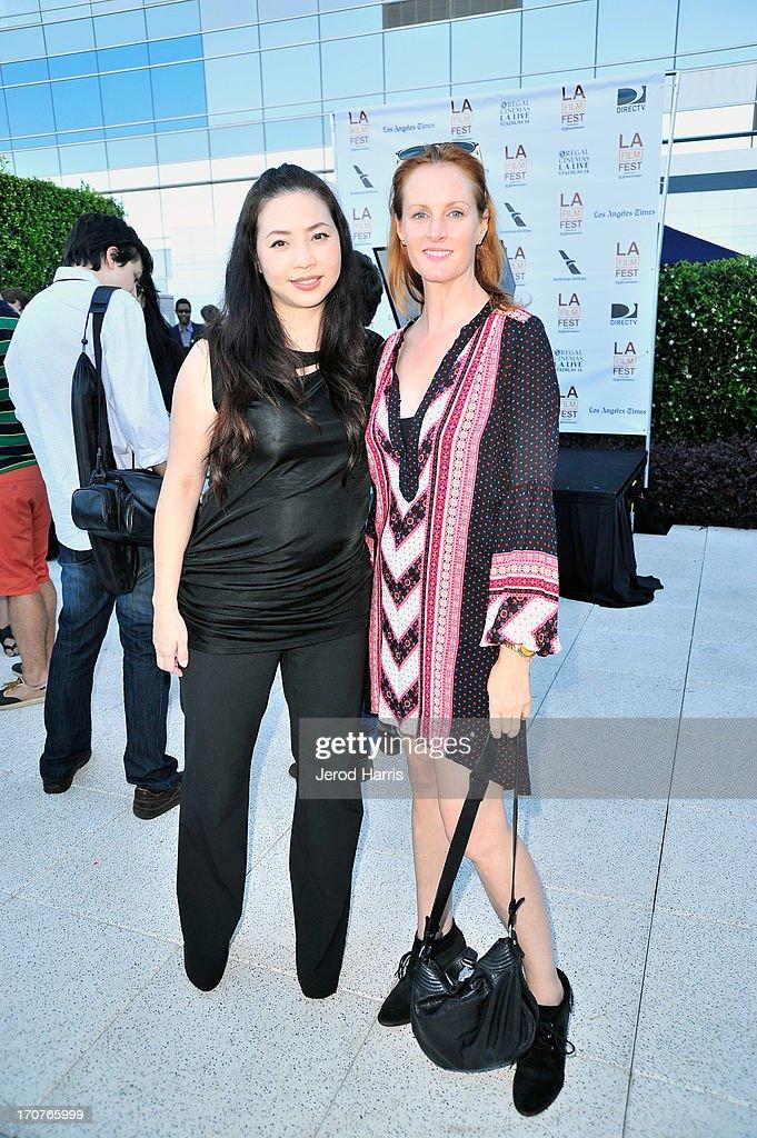 Nina Yang, COO and Rachael McLean SVP of Digital, JuntoBox Films attend the Filmmaker Reception during the 2013 Los Angeles Film Festival at Ritz Carlton on June 16, 2013 in Los Angeles, California.