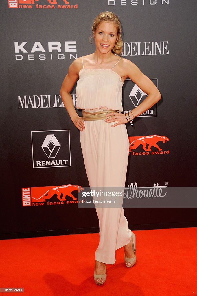 Nina-Friederike Gnaedig attends the new faces award Film 2013 at Tempodrom on April 25, 2013 in Berlin, Germany.