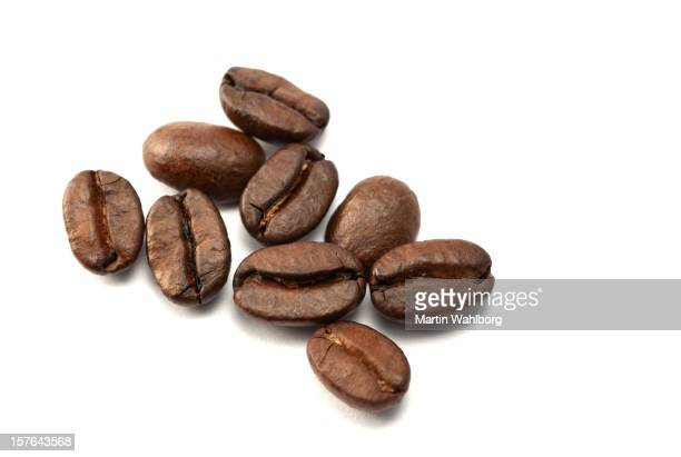 Nine coffee beans