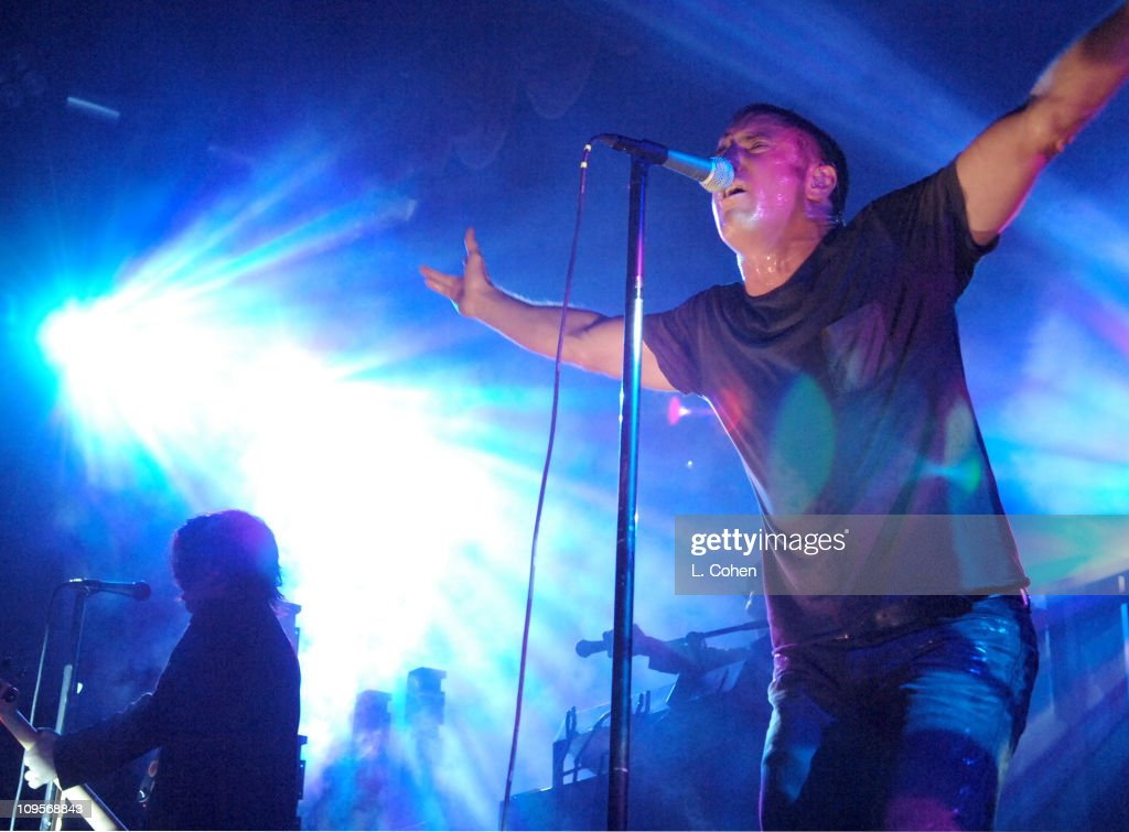 <a gi-track='captionPersonalityLinkClicked' href=/galleries/search?phrase=Nine+Inch+Nails&family=editorial&specificpeople=799973 ng-click='$event.stopPropagation()'>Nine Inch Nails</a> during KROQ Almost Acoustic Christmas 2005 - Day 1 - Show at Gibson Amphitheater in Los Angeles, California, United States.