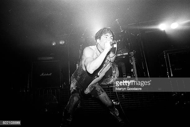 Nine Inch Nails singer Trent Reznor performs on stage United Kingdom 1992