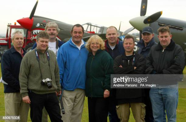 Nine of the 14 of plane spotters Peter Norris of Uxbridge Middlesex Graham Arnold of Surrey Mike Bursell of Swanland Yorks Paul and Lesley Coppin of...