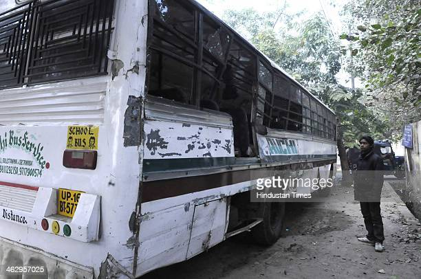 Nine students of Army Public School got injured when the school bus was hit by the speeding truck at the sector 2531 intersection on January 16 2014...