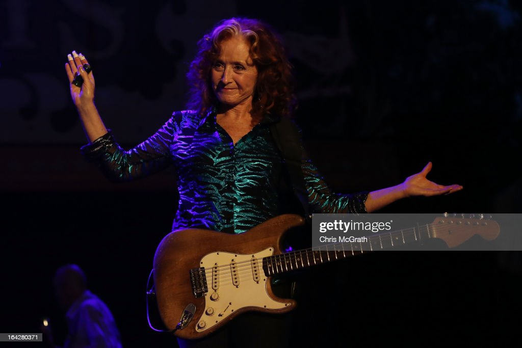 Nine time Grammy Award winner Bonnie Raitt performs on stage during the Timbre Rock & Roots Festival 2013 on March 22, 2013 in Singapore.