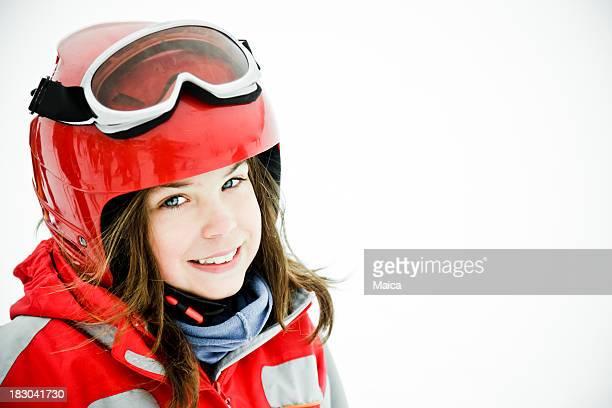 Nine years old skier