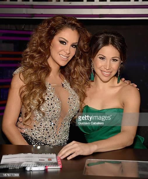 Ninel Conde and Bianca Marroquin participates in Mira Quien Baila at Univision Headquarters on November 10 2013 in Miami Florida