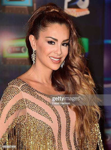 Ninel Conde attends Univision's Premios Juventud 2015 at Bank United Center on July 16 2015 in Miami Florida