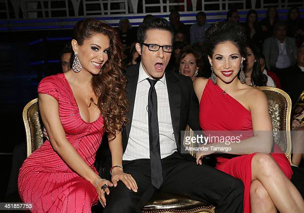 Ninel Conde Horacio Villalobos and Bianca Marroquin participate in Univision's 'Mira Quien Baila' Grand Finale at Univision Headquarters on November...