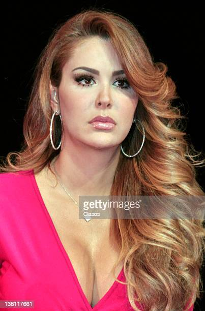 Ninel Conde of Aventurera during a press conference at Blanquita Theater in Mexico City on February 01 in Mexico City Mexico