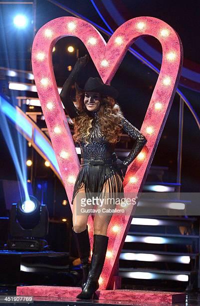 Ninel Conde participates in 'Mira Quien Baila' Grand Finale at Univision Headquarters on November 24 2013 in Miami Florida