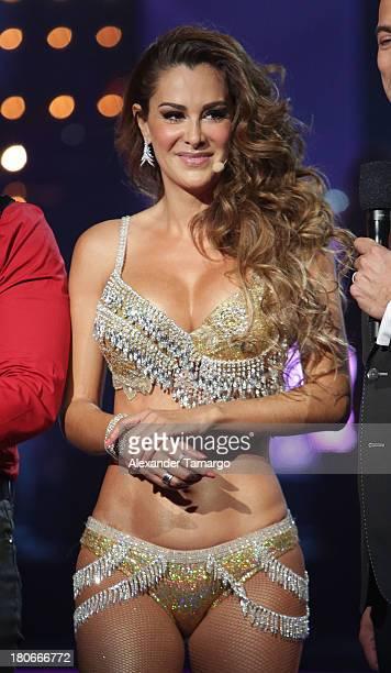 Ninel Conde participates in the premiere of Univisions 'Mira Quien Baila' show at Univision Studios on September 14 2013 in Miami Florida