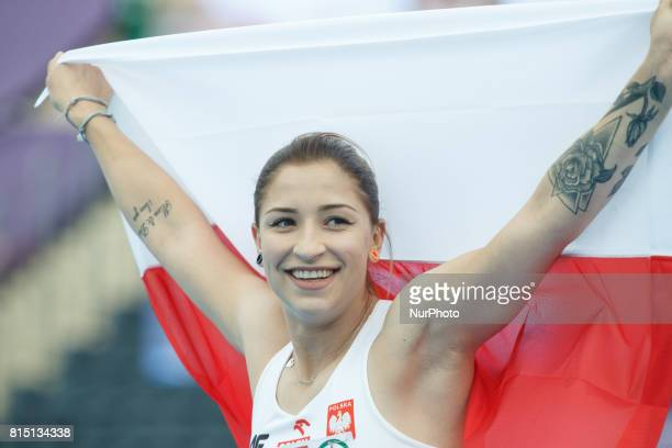 Nineteen year old Ewa Swoboda win s the 100 meter womens final on 14 July 2017 at the U23 European Athletics Championships in Bydgoszcz Poland