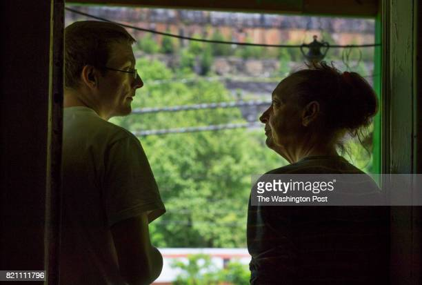 Nineteenyearold Tyler McGloghlin and his mother Sheila chat on the front porch in Grundy VA on May 26 2017 Sheila McGloghlin gets $500 a month from...