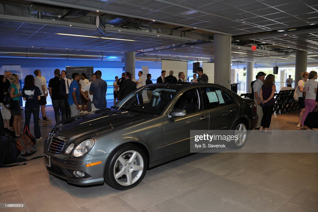 Nine time olympic champion mark spitz and mercedes benz for Mercedes benz of manhattan new york city