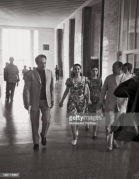 Ninetta Bagarella walking down the corridors of Palermo's courthouse Ninetta is defendant in the trial during which she will be convicted of aiding...