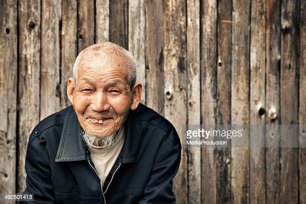 Ninety years old Chinese man