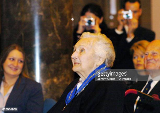 Ninetyoneyearold Australian heroine of the French Resistance Nancy Wake receives her country's highest civilian honour the Companion of the Order of...